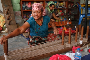 Woman Handicraft Making